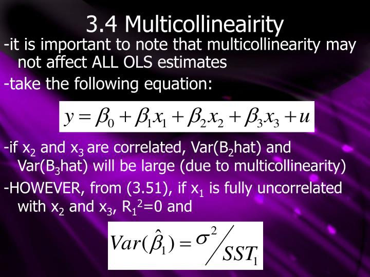 3.4 Multicollineairity