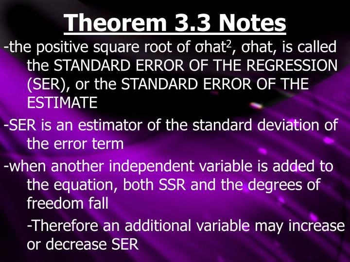 Theorem 3.3 Notes