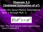 theorem 3 3 unbiased estimation of 2