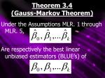 theorem 3 4 gauss markov theorem