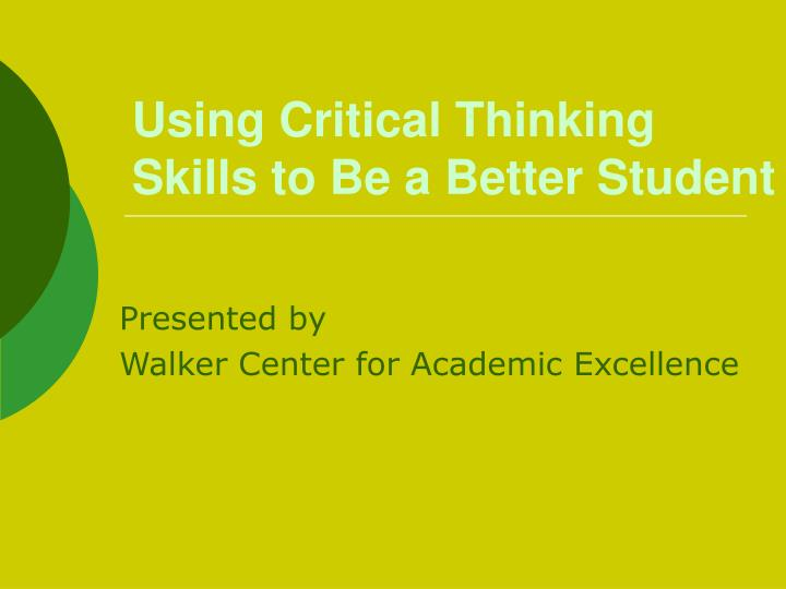 using critical thinking skills in reading