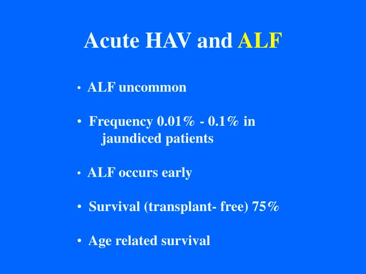 Acute HAV and