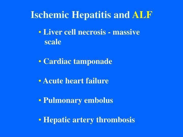 Ischemic Hepatitis and