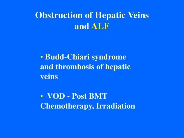 Obstruction of Hepatic Veins