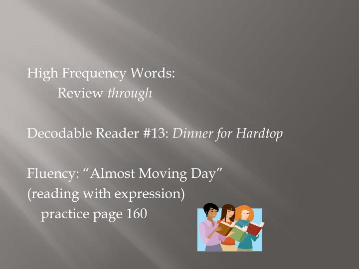 High Frequency Words: