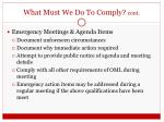 what must we do to comply cont2