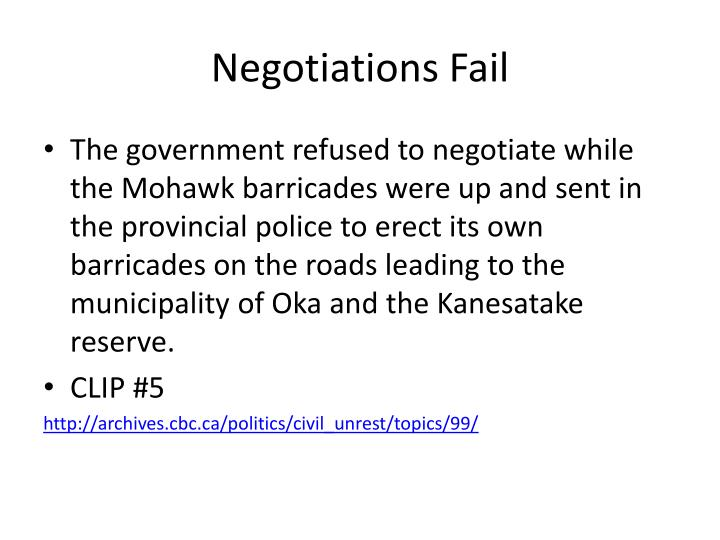 Negotiations Fail