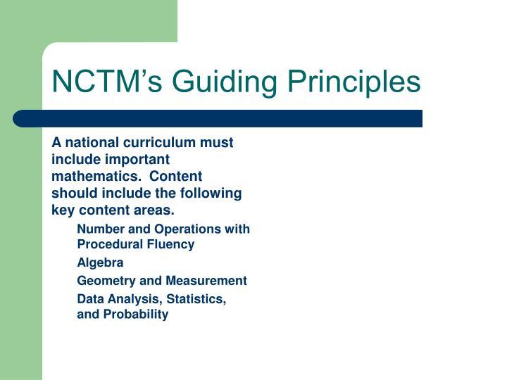 NCTM's Guiding Principles