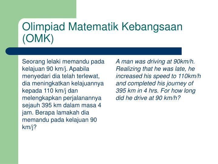 Seorang lelaki memandu pada kelajuan 90 km/j. Apabila menyedari dia telah terlewat, dia meningkatkan kelajuannya kepada 110 km/j dan melengkapkan perjalanannya sejauh 395 km dalam masa 4 jam. Berapa lamakah dia memandu pada kelajuan 90 km/j?