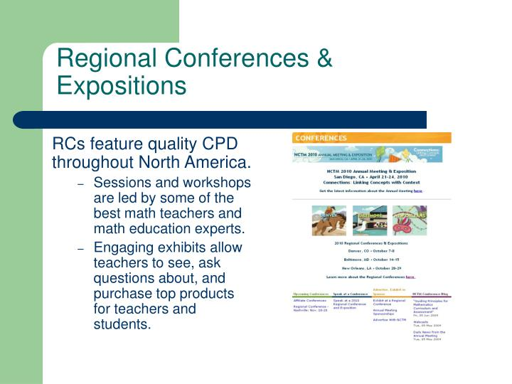 Regional Conferences &  Expositions