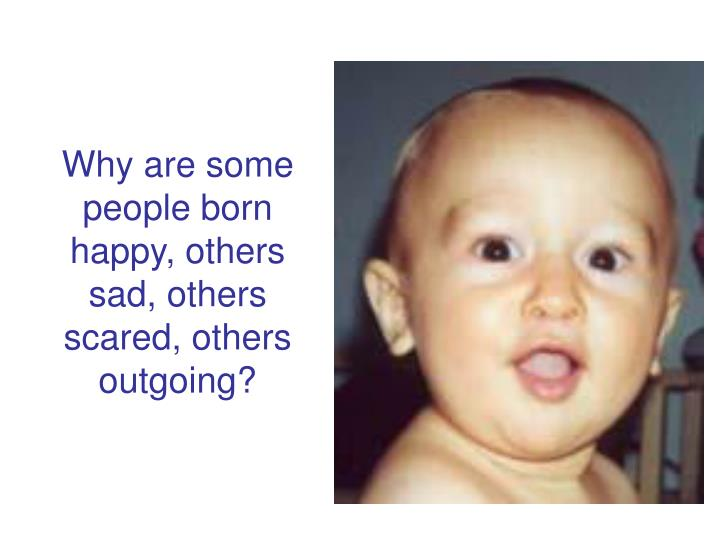 Why are some people born happy, others sad, others scared, others outgoing?