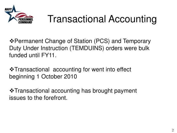 Transactional Accounting