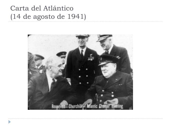 Carta del Atlántico
