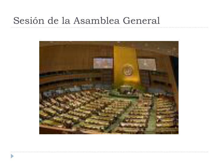 Sesión de la Asamblea General