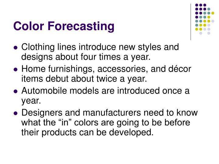 Color Forecasting
