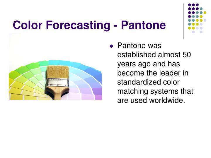 Color Forecasting - Pantone