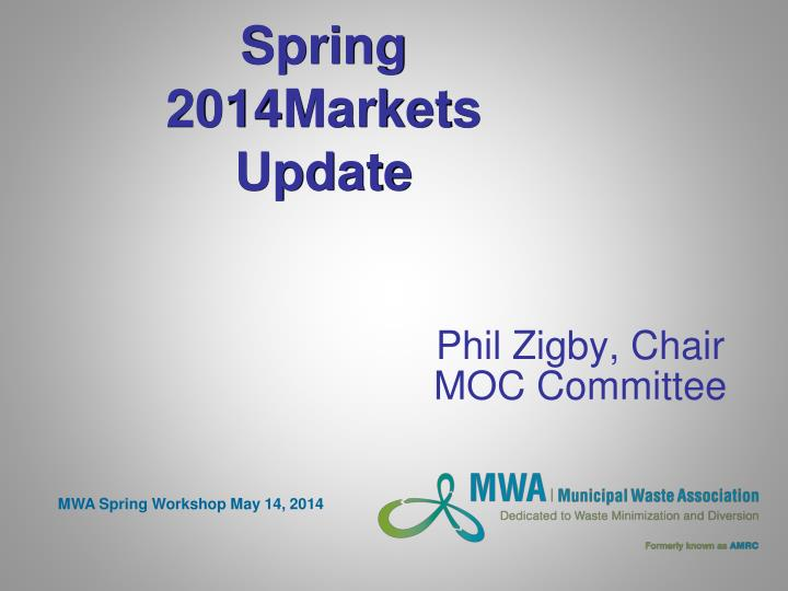 Spring 2014 markets update