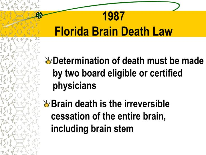 Brain death is the irreversible cessation of the entire brain,  including brain stem