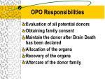 opo responsibilities