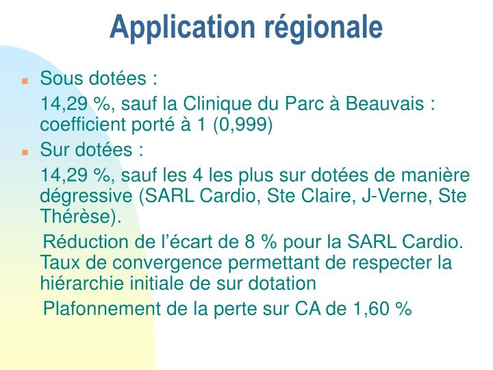 Application régionale