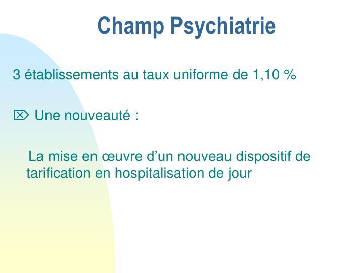 Champ Psychiatrie