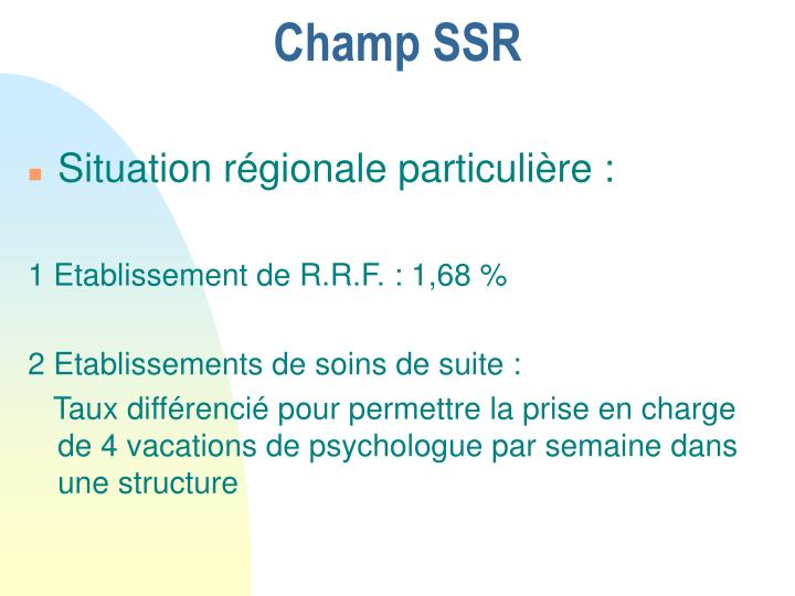 Champ SSR