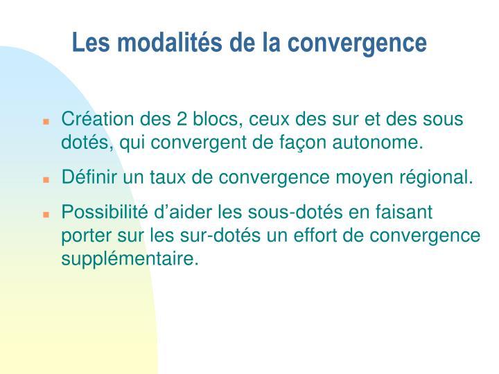 Les modalités de la convergence