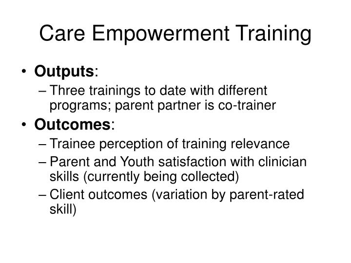 Care Empowerment Training