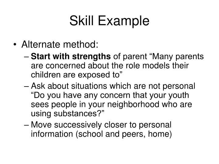 Skill Example