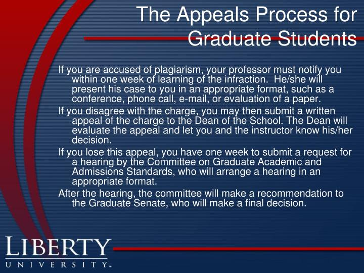 The Appeals Process for