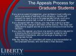 the appeals process for graduate students