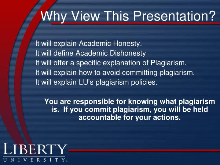 Why View This Presentation?