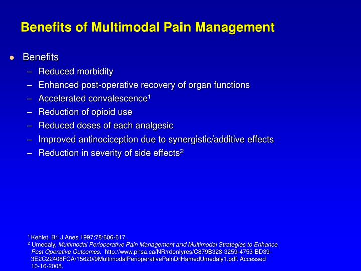 Benefits of Multimodal Pain Management
