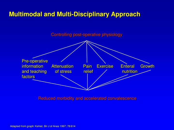Multimodal and Multi-Disciplinary Approach