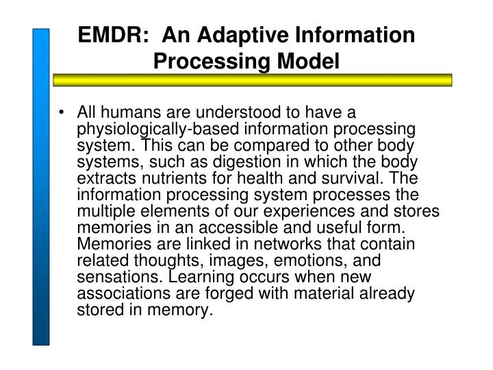 EMDR:  An Adaptive Information Processing Model