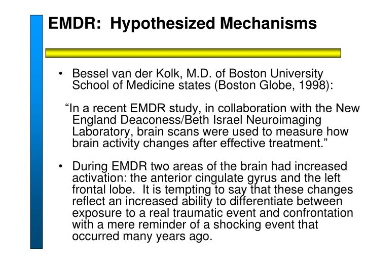 EMDR:  Hypothesized Mechanisms