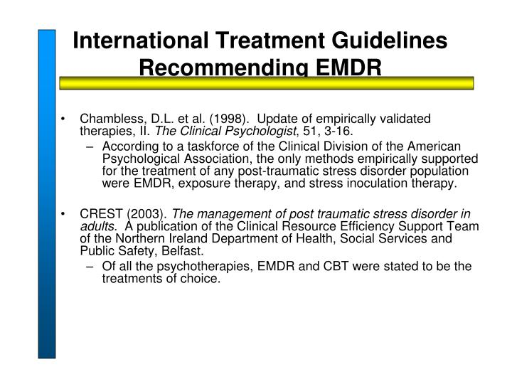 International Treatment Guidelines