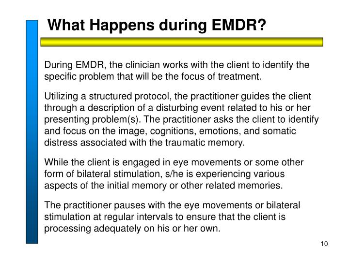 What Happens during EMDR?