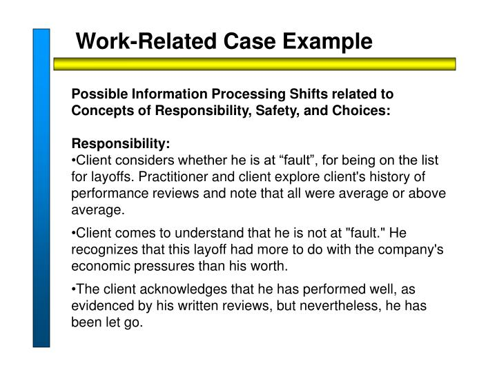 Work-Related Case Example