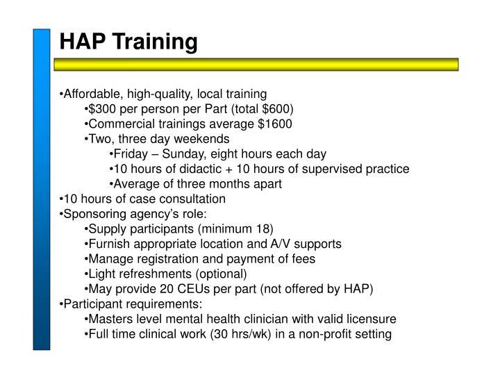HAP Training