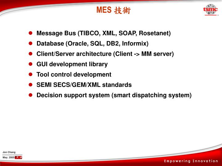 Message Bus (TIBCO, XML, SOAP, Rosetanet)