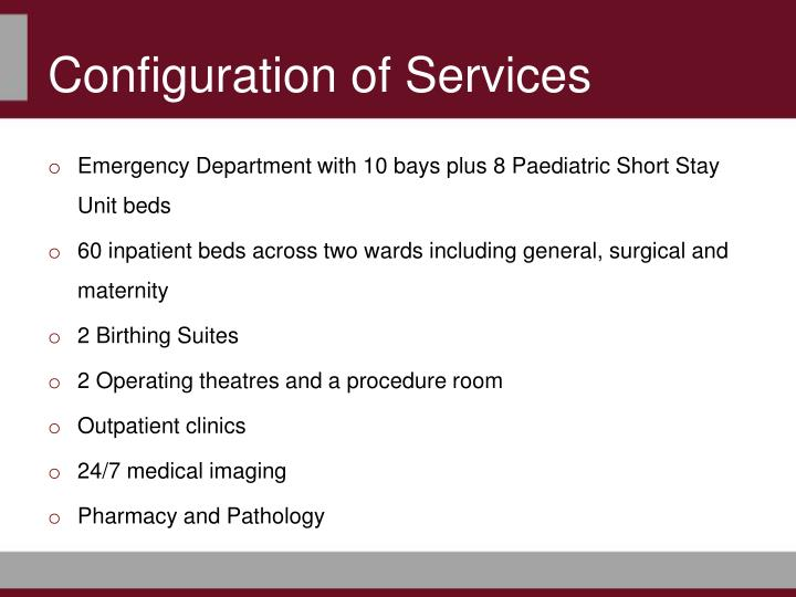 Configuration of Services