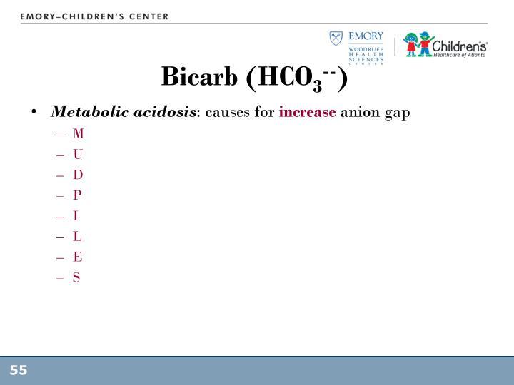 Bicarb (HCO
