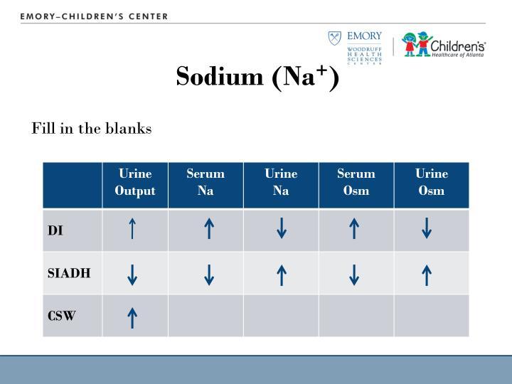 Sodium (Na