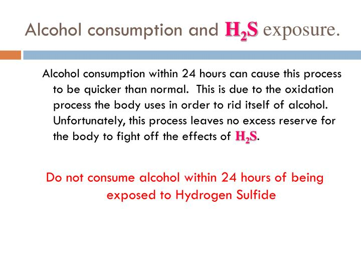 Alcohol consumption and