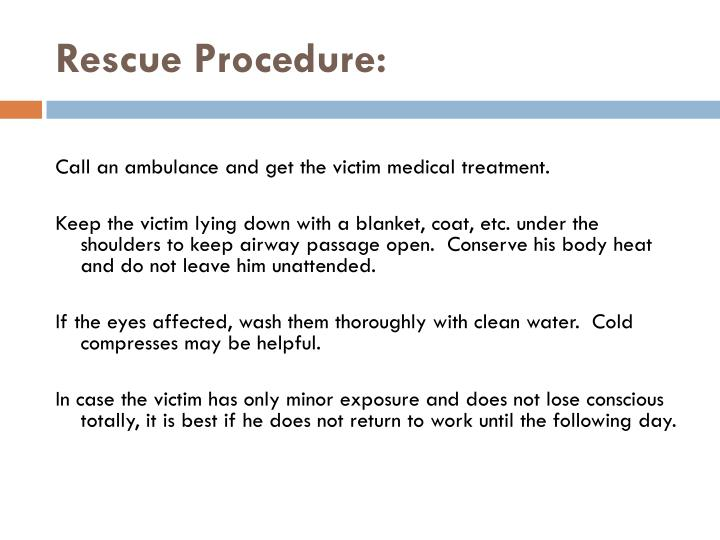 Rescue Procedure: