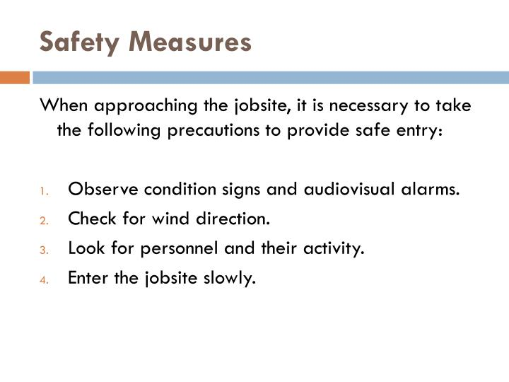 Safety Measures