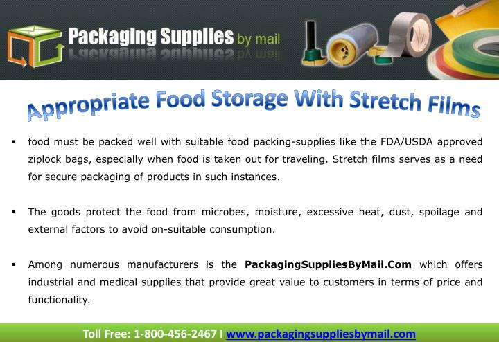 Appropriate Food Storage With Stretch Films