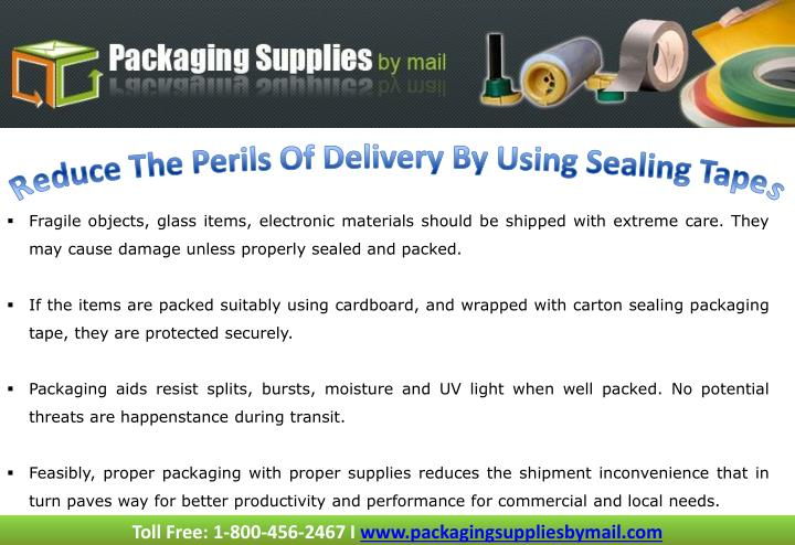 Reduce The Perils Of Delivery By Using Sealing Tapes