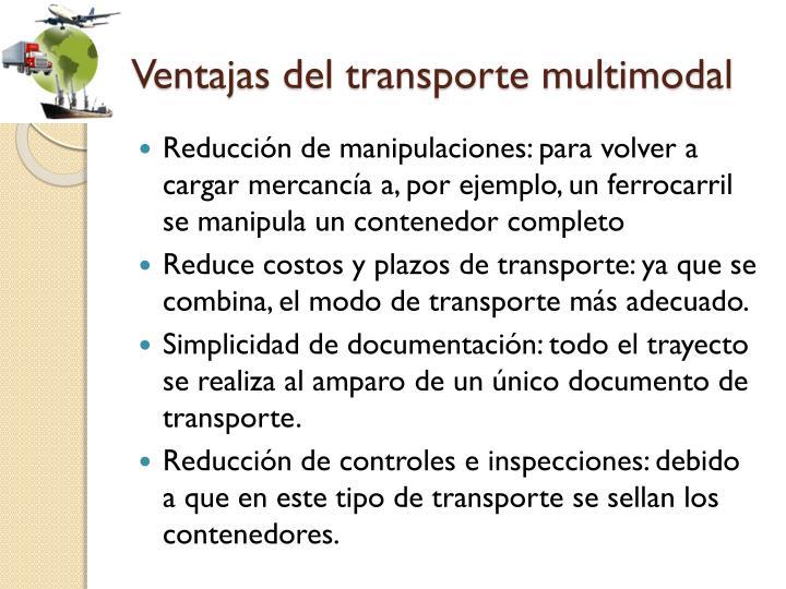 Ventajas del transporte multimodal